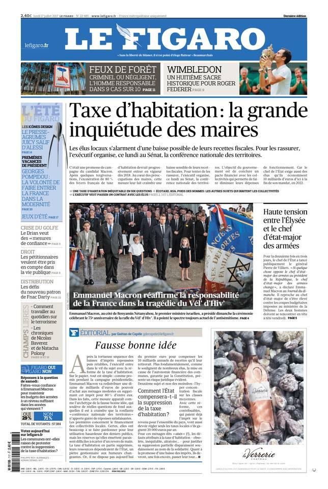 Le Figaro du 17 juillet 2017 à télécharger sur iPad