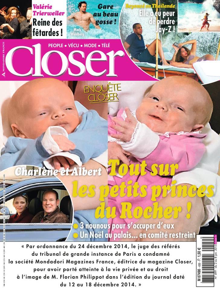Closer N°499 du 02 janvier 2015 à télécharger sur iPad