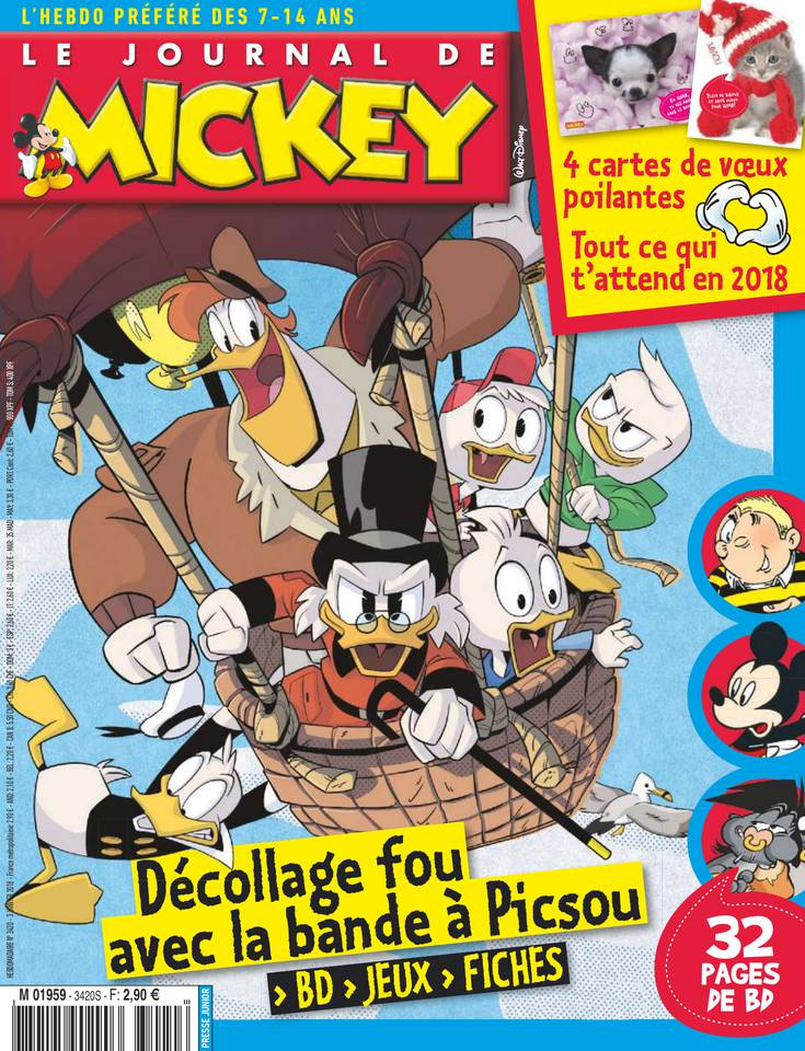 le journal de mickey n 3420 du 03 janvier 2018 t l charger sur ipad. Black Bedroom Furniture Sets. Home Design Ideas