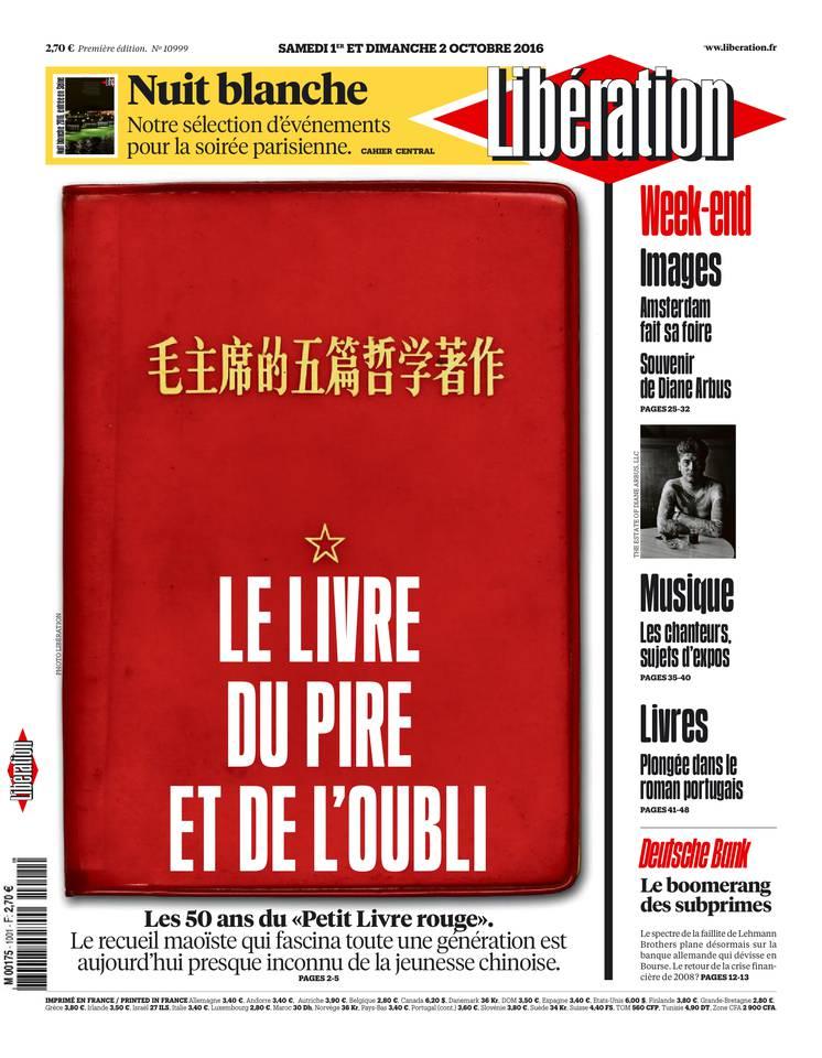 Libération du samedi 01 octobre 2016