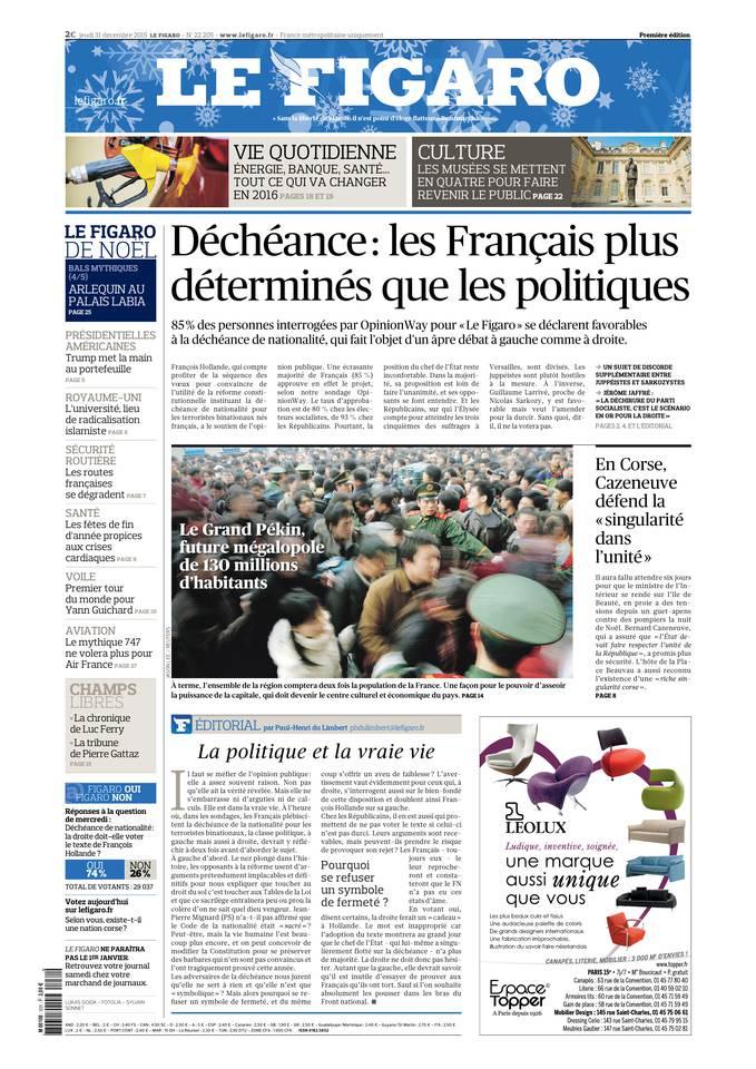 Le Figaro Du Jeudi 31 Décembre 2015