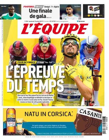 L'Équipe - 19/07/2019 |