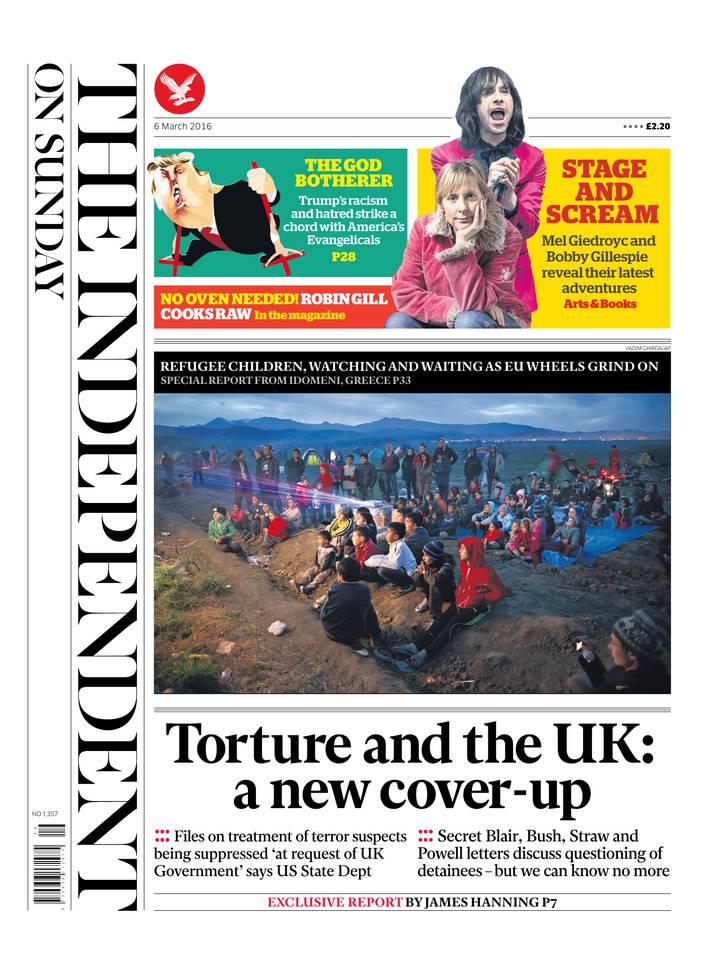 The Independent on Sunday du 06 mars 2016 à télécharger sur iPad