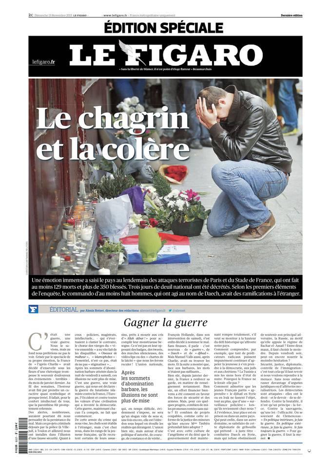 Le Figaro du Dimanche 15 Novembre 2015