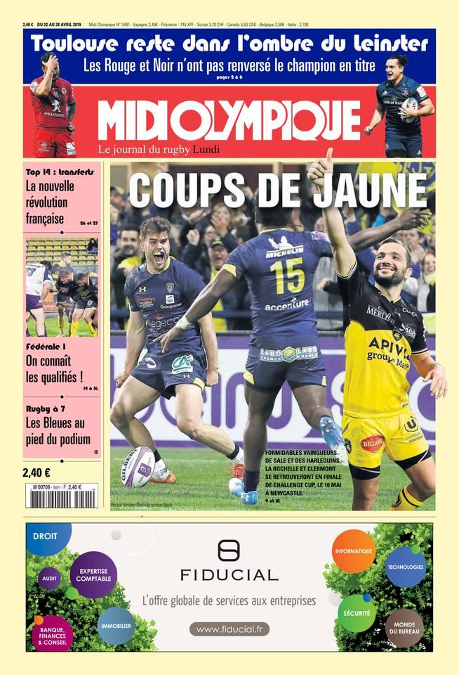 Midi Olympique Rouge N°5451 du 22 avril 2019 à télécharger sur iPad