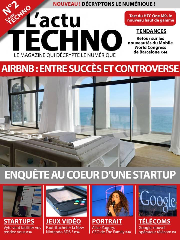 L'actu Techno N°2 du 01 avril 2015 à télécharger sur iPad