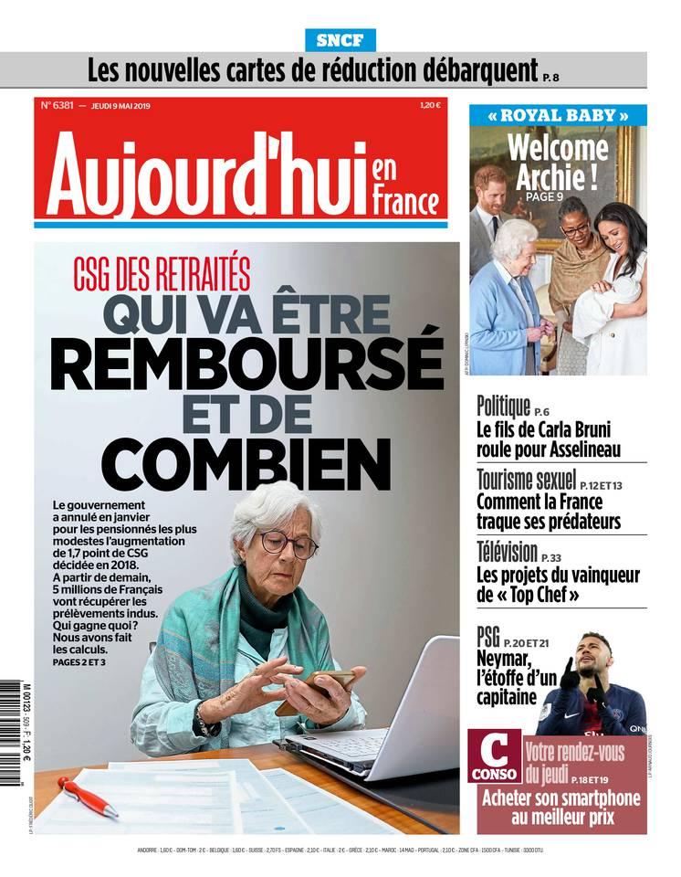 Aujourd'hui en France du 09 mai 2019 à télécharger sur iPad