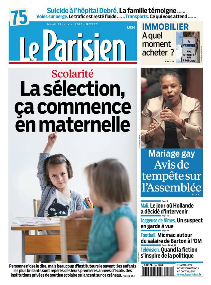Le Parisien du 29 janvier 2013 à télécharger sur iPad