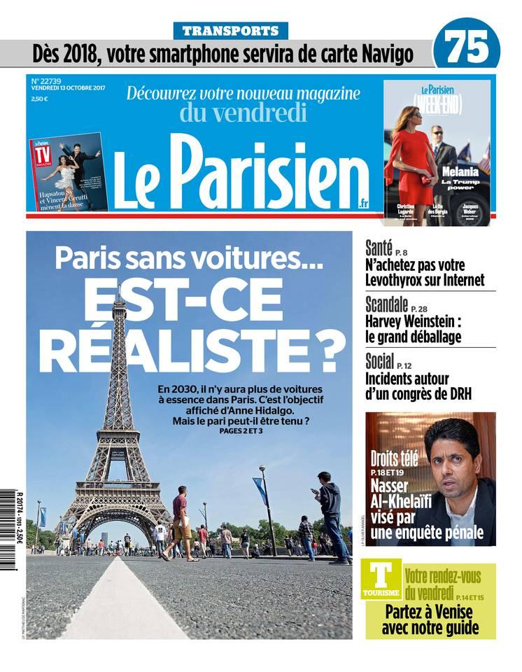 Le Parisien du 13 octobre 2017 à télécharger sur iPad