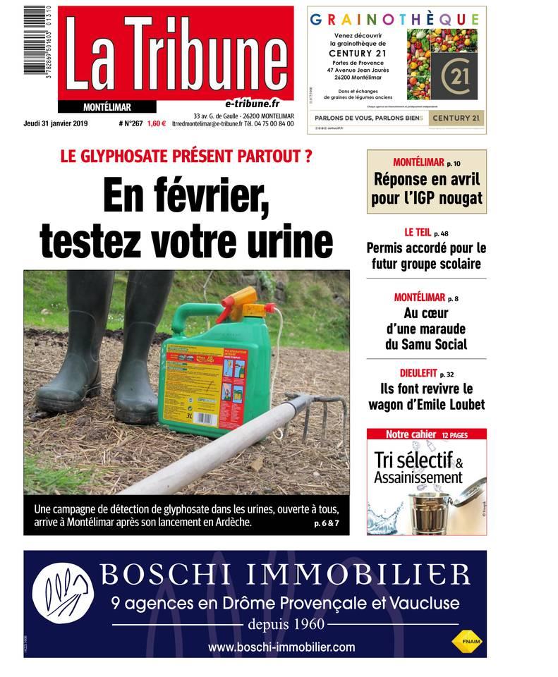 La Tribune - Montélimar / Ardèche / Provence / Tricastin du 31 janvier 2019 à télécharger sur iPad