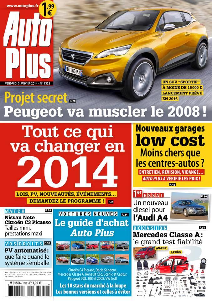 Auto Plus N°1322 du 03 janvier 2014 à télécharger sur iPad