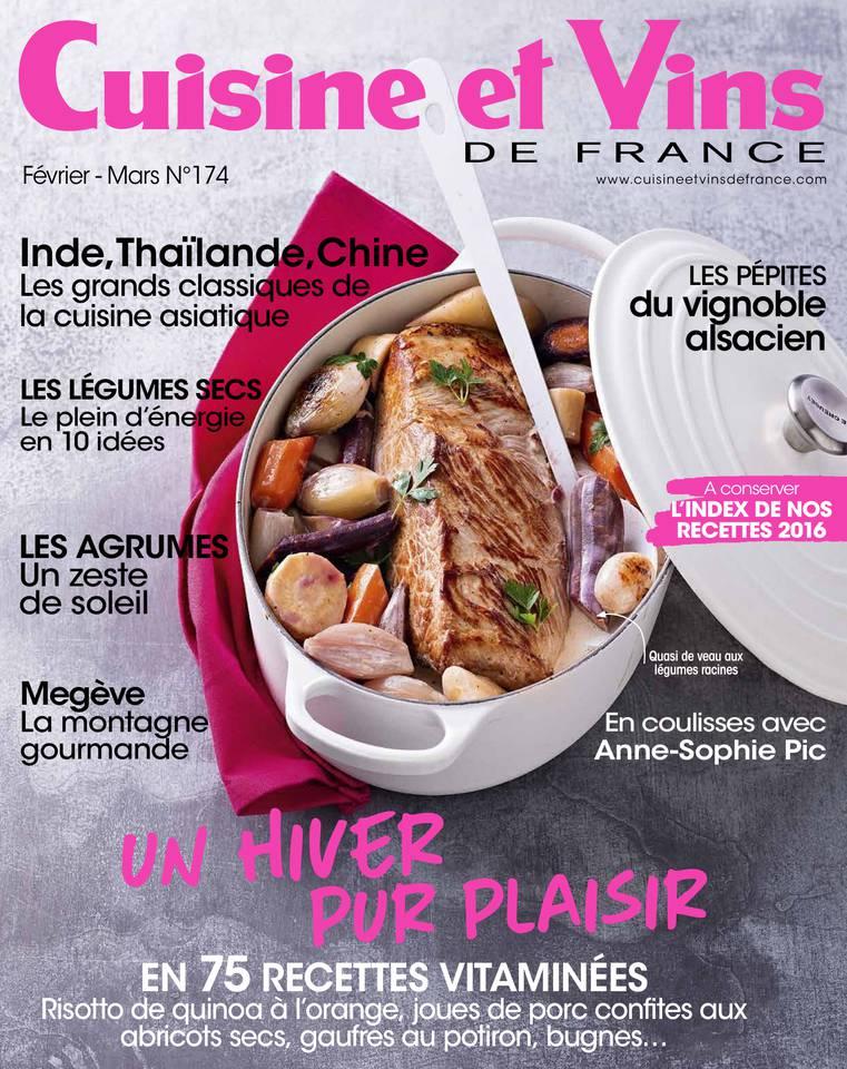 Cuisine et vins de france n 174 du 05 janvier 2017 for Cuisine et vins de france