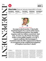 Une - The Independent 07 mars 2014
