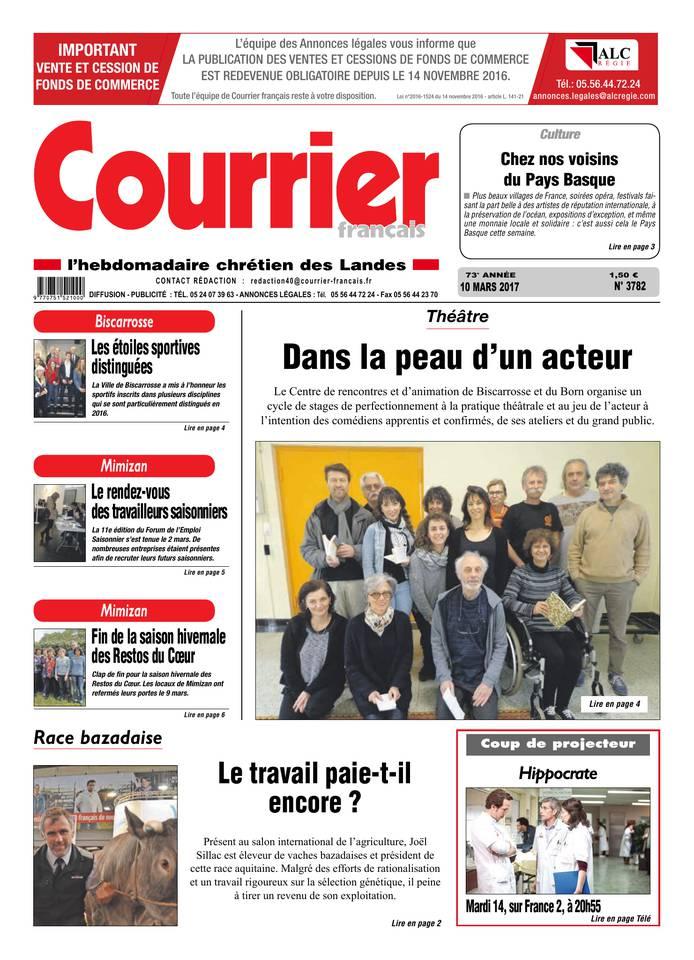 Courrier Français du 10 mars 2017 à télécharger sur iPad